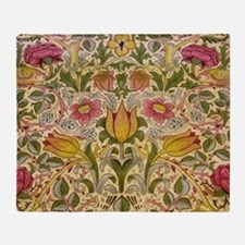 Morris Flowers and Birds design Throw Blanket
