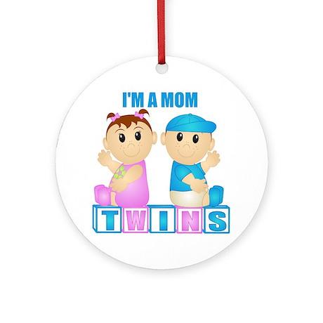 I'm A Mom (PBG:blk) Ornament (Round)