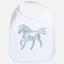Dotted Horse Bib