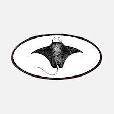 Manta Ray Logo (line art) Patches