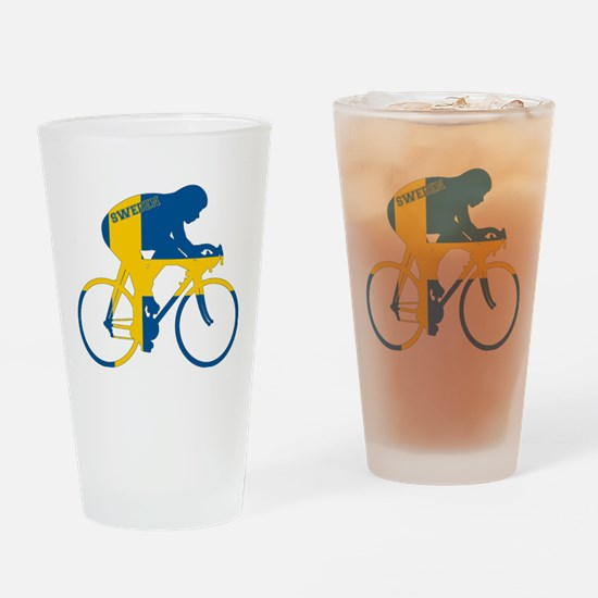 Sweden Cycling Drinking Glass