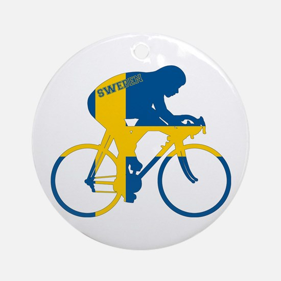 Sweden Cycling Ornament (Round)