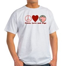 Peace Love and Pigs T-Shirt