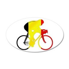 Belgian Cycling 35x21 Oval Wall Decal