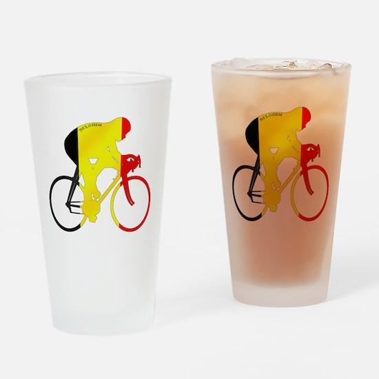 Belgian Cycling Drinking Glass