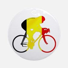 Belgian Cycling Ornament (Round)