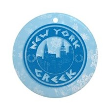 New York Greek American Ornament (Round)