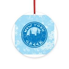 New York Greek American Ornament (Round)