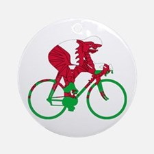 Wales Cycling Ornament (Round)