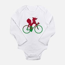 Wales Cycling Long Sleeve Infant Bodysuit