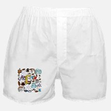 Coffee Collage Boxer Shorts