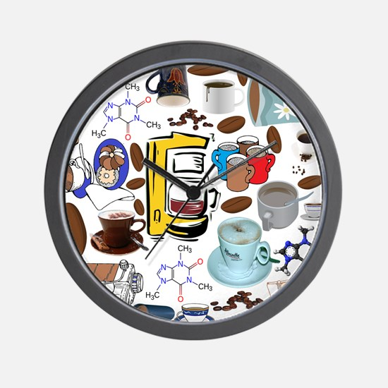 Coffee Collage Wall Clock