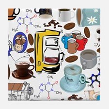 Coffee Collage Tile Coaster