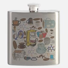 Coffee Collage Flask