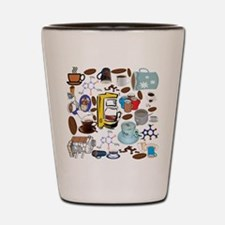 Coffee Collage Shot Glass