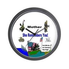 Military Mothers Day Wall Clock