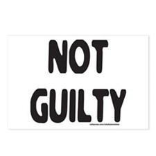 NOT GUILTY Postcards (Package of 8)