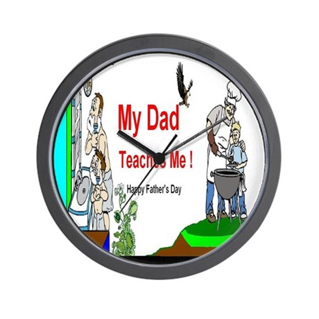 Father's Day Dad Wall Clock by BearCharmsandMore