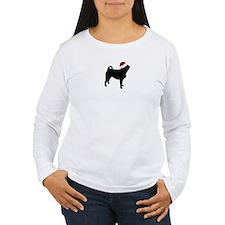 """Pug """"Santa Hat"""" T-Shirt"""