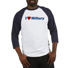 I Love Hillary Baseball Jersey