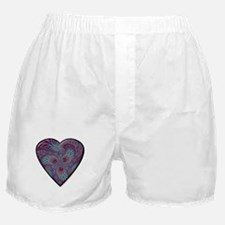 Blue/Purple Fractal Heart Boxers