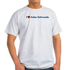 I Love John Edwards Ash Grey T-Shirt