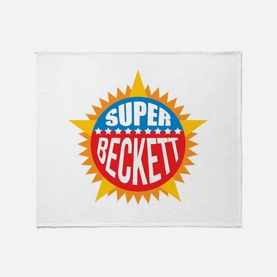 Super Beckett Throw Blanket