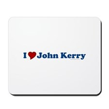 I Love John Kerry Mousepad