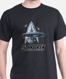 Star Trek Ship with Stars T-Shirt