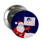 Santa: Al Gore 2008! Button