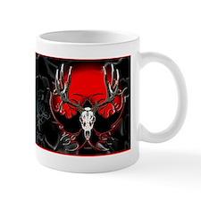 Deer skull, flames Mug