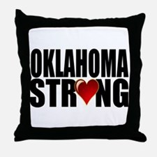 Oklahoma strong Throw Pillow
