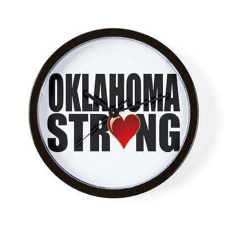 Oklahoma strong Wall Clock