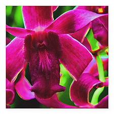 "Orchid Square Car Magnet 3"" x 3"""