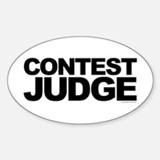 Judge Oval Decal
