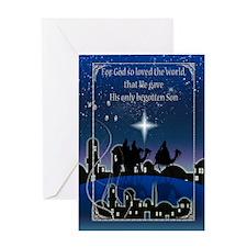 Three Wise Men Christmas Greeting Card