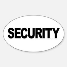 SECURITY Oval Decal