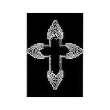 Ornate Gothic Cross Rectangle Magnet