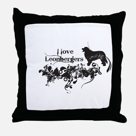 I Love Leonbergers Throw Pillow