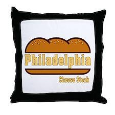 Philadelphia Cheesesteak Throw Pillow