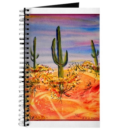 Saguaro cactus, desert art Journal
