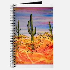 Saguaro cactus, desert art Journal