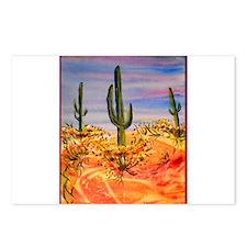 Saguaro cactus, desert art Postcards (Package of 8