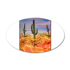 Saguaro cactus, desert art Wall Decal
