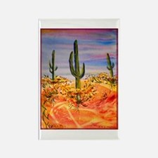 Saguaro cactus, desert art Rectangle Magnet