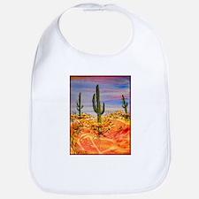 Saguaro cactus, desert art Bib