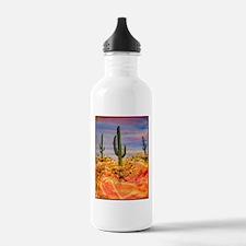 Saguaro cactus, desert art Water Bottle