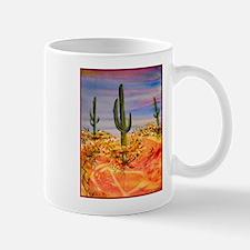 Saguaro cactus, desert art Mug