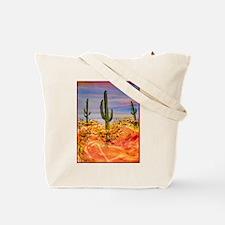 Saguaro cactus, desert art Tote Bag