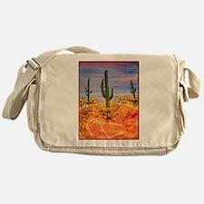 Saguaro cactus, desert art Messenger Bag